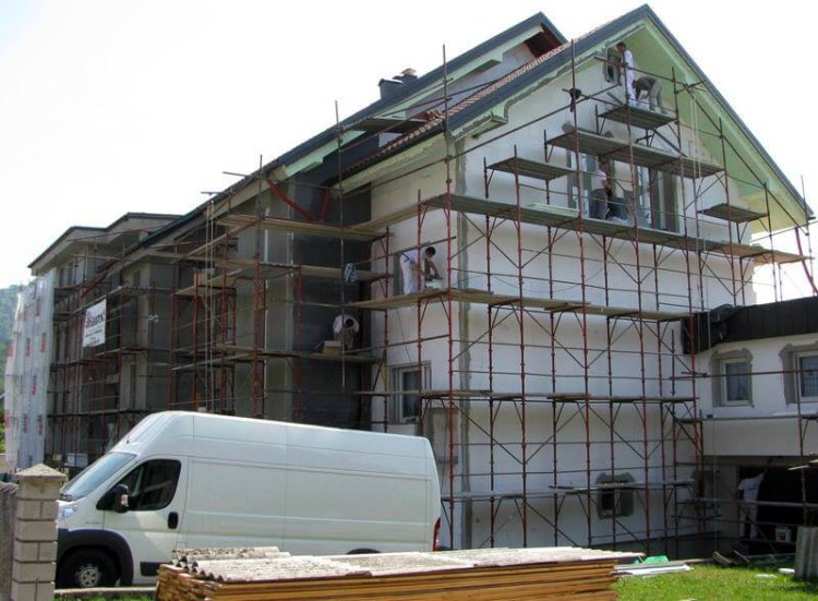 Cena izdelave fasade